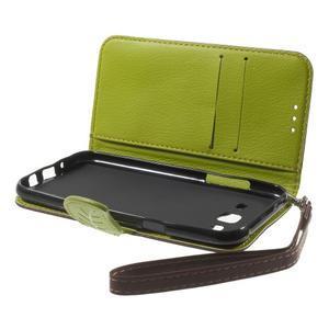 Leaf peňaženkové puzdro pre Samsung Galaxy J5 - hnedé - 6