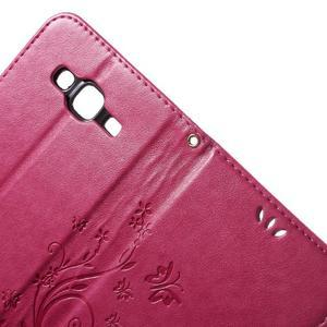 Butterfly PU kožené pouzdro na Samsung Galaxy J5 - rose - 6