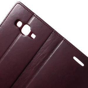Mercury PU kožené puzdro pre mobil Samsung Galaxy J5 - vinové - 6