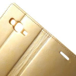 Mercury PU kožené puzdro pre mobil Samsung Galaxy J5 - zlaté - 6