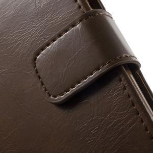 Mercury PU kožené pouzdro na mobil Samsung Galaxy J5 - hnědé - 6