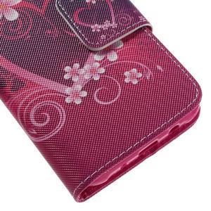 Dairy peňaženkové puzdro pre Samsung Galaxy J5 - srdca - 6