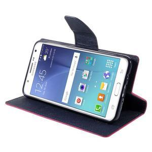 Diary PU kožené puzdro pre mobil Samsung Galaxy J5 (2016) - rose - 6