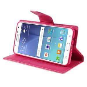 Diary PU kožené puzdro pre mobil Samsung Galaxy J5 (2016) - ružové - 6