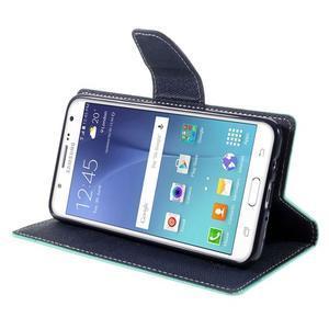 Diary PU kožené puzdro pre mobil Samsung Galaxy J5 (2016) - azúrové - 6