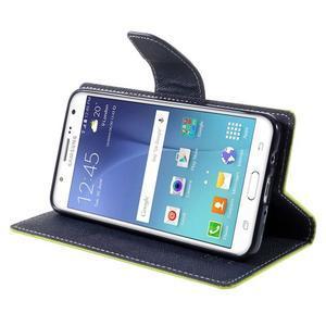 Diary PU kožené puzdro pre mobil Samsung Galaxy J5 (2016) - zelené - 6