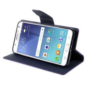 Diary PU kožené puzdro pre mobil Samsung Galaxy J5 (2016) - fialové - 6