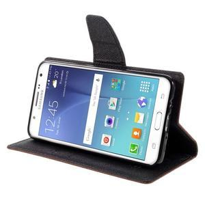 Diary PU kožené puzdro pre mobil Samsung Galaxy J5 (2016) - hnedé - 6