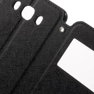 Knížkové puzdro s okienkom pre Samsung Galaxy J5 (2016) - čierne - 6