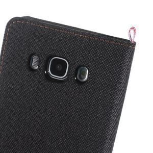 Denim peněženkové pouzdro na Samsung Galaxy J5 (2016) - černé - 6