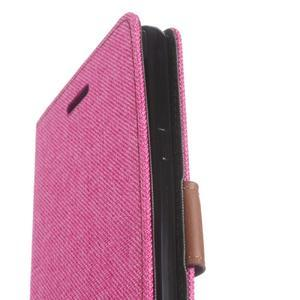 Denim peněženkové pouzdro na Samsung Galaxy J5 (2016) - rose - 6