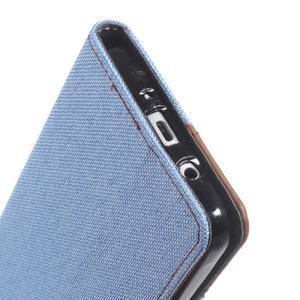 Denim peňaženkové puzdro pre Samsung Galaxy J5 (2016) - svetlomodré - 6
