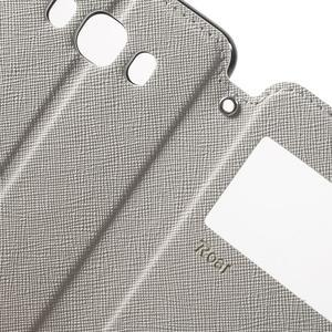 Knížkové pouzdro s okýnkem na Samsung Galaxy J5 (2016) - bílé - 6