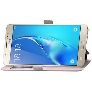Stars pouzdro s okýnkem na mobil Samsung Galaxy J5 (2016) - bílé - 6