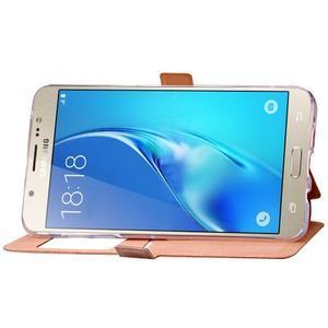 Stars puzdro s okienkom pre mobil Samsung Galaxy J5 (2016) - zlaté - 6