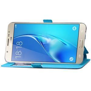 Stars puzdro s okienkom pre mobil Samsung Galaxy J5 (2016) - modré - 6