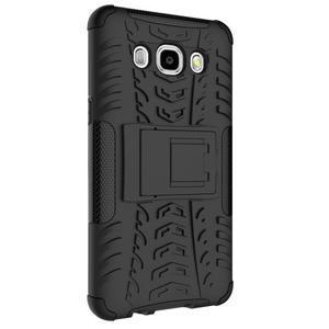 Outdoor odolný obal so stojanom pre Samsung Galaxy J5 (2016) - čierný - 6