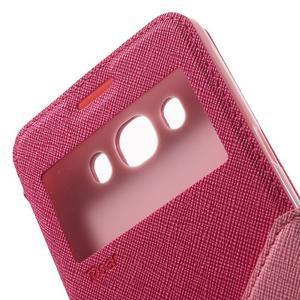 Knížkové pouzdro s okýnkem na Samsung Galaxy J5 (2016) - rose - 6