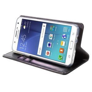 Moons PU kožené pouzdro na Samsung Galaxy J5 (2016) - černé - 6