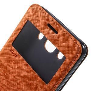 Knížkové puzdro s okienkom pre Samsung Galaxy J5 (2016) - oranžové - 6