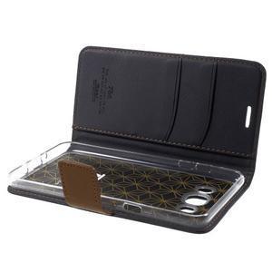 Gentle PU kožené peňaženkové puzdro pre Samsung Galaxy J5 (2016) - čierne - 6