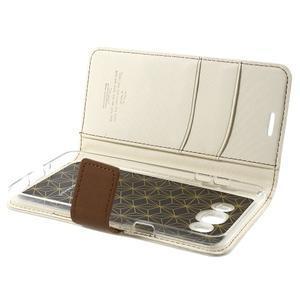 Gentle PU kožené peněženkové pouzdro na Samsung Galaxy J5 (2016) - bílé - 6