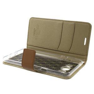 Gentle PU kožené peňaženkové puzdro pre Samsung Galaxy J5 (2016) - khaki - 6