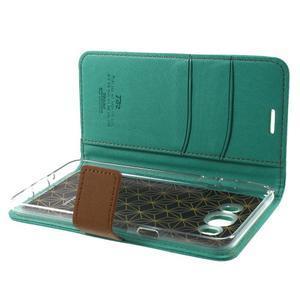 Gentle PU kožené peňaženkové puzdro pre Samsung Galaxy J5 (2016) - zelenomodré - 6