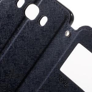 Knížkové puzdro s okienkom pre Samsung Galaxy J5 (2016) - tmavomodré - 6