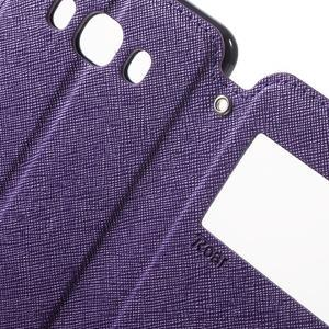 Knížkové pouzdro s okýnkem na Samsung Galaxy J5 (2016) - fialové - 6