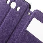 Knížkové pouzdro s okýnkem na Samsung Galaxy J5 (2016) - fialové - 6/7