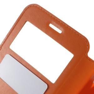 Royal puzdro s okienkom pre Samsung Galaxy J5 (2016) - oranžové - 6