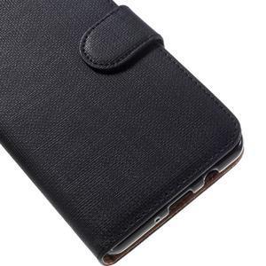 Cloth PU kožené pouzdro na Samsung Galaxy J5 (2016) - černé - 6