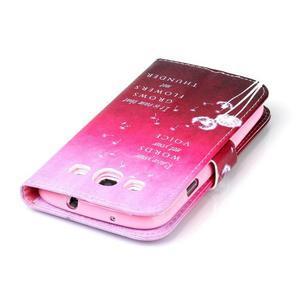 Emotive peňaženkové puzdro pre Samsung Galaxy S3 - púpavy - 6