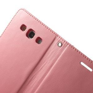 RichDiary PU kožené pouzdro na Samsung Galaxy S3 - růžové - 6
