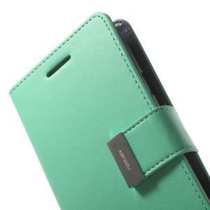 RichDiary PU kožené pouzdro na Samsung Galaxy S3 - azurové - 6