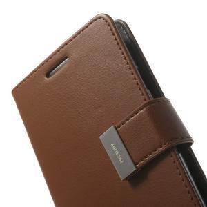 RichDiary PU kožené pouzdro na Samsung Galaxy S3 - hnědé - 6
