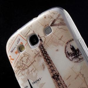 Ultratenký gelový obal na mobil Samsung Galaxy S3 - Eiffelova věž - 6
