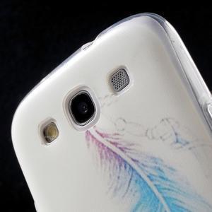 Ultratenký gelový obal na mobil Samsung Galaxy S3 - peříčko - 6