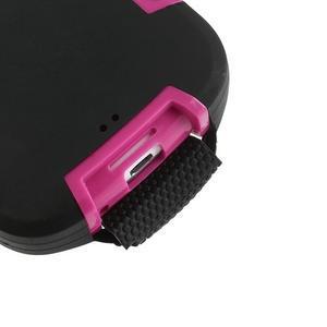 Odolné silikonové pouzdro na mobil Samsung Galaxy S3 - černé/rose - 6