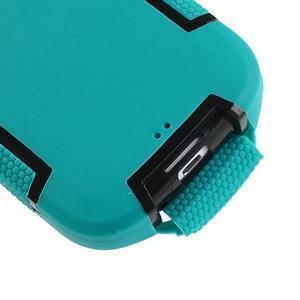 Odolné silikonové pouzdro na mobil Samsung Galaxy S3 - modré/černé - 6