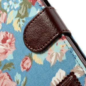 Kvetinové puzdro pre mobil Samsung Galaxy S3 - modré pozadie - 6