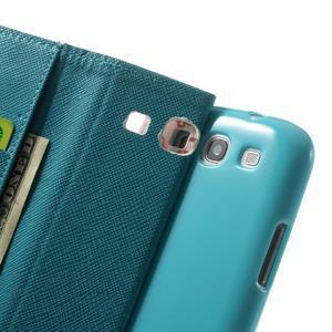 Knížečkové puzdro pre Samsung Galaxy S3 - autíčka - 6
