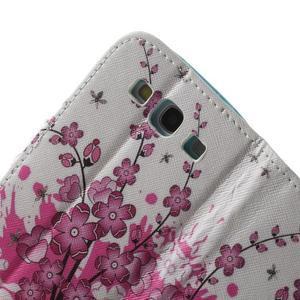 Knížečkové puzdro pre Samsung Galaxy S3 - kvitnúca vetvička - 6