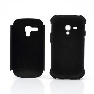 Outdoor odolný obal pre mobil Samsung Galaxy S3 mini - čierný - 6