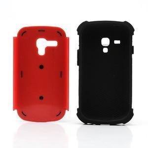 Outdoor odolný obal pre mobil Samsung Galaxy S3 mini - červený - 6