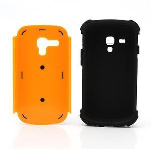 Outdoor odolný obal pre mobil Samsung Galaxy S3 mini - oranžový - 6
