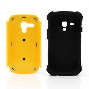 Outdoor odolný obal pre mobil Samsung Galaxy S3 mini - žltý - 6