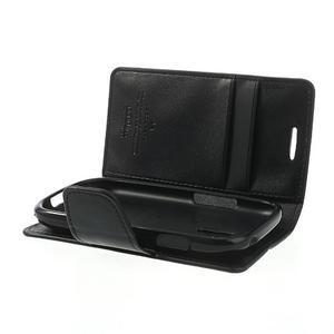 Diary PU kožené puzdro pre Samsung Galaxy S3 mini - čierne - 6