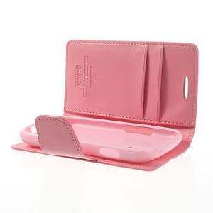 Diary PU kožené pouzdro na Samsung Galaxy S3 mini - růžové - 6